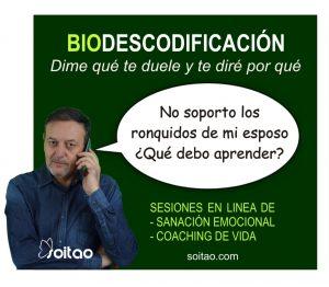 Biodescodificación: !No soporto los ronquidos de mi esposo! – SOITAO